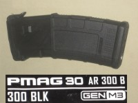 10/30 Magpul 300 Black Out AR-15 M3 PMAG w/ MAGBLOCK