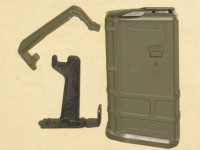 Magpul 10/20  5.56 AR-15 Straight Green PMAG w/ Magpul Blocker